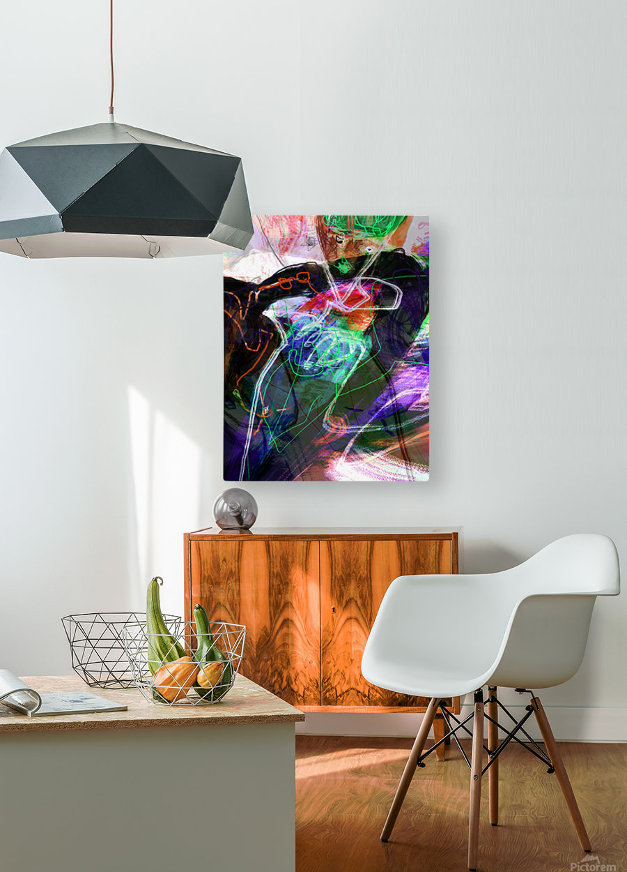 A Z E A  HD Metal print with Floating Frame on Back