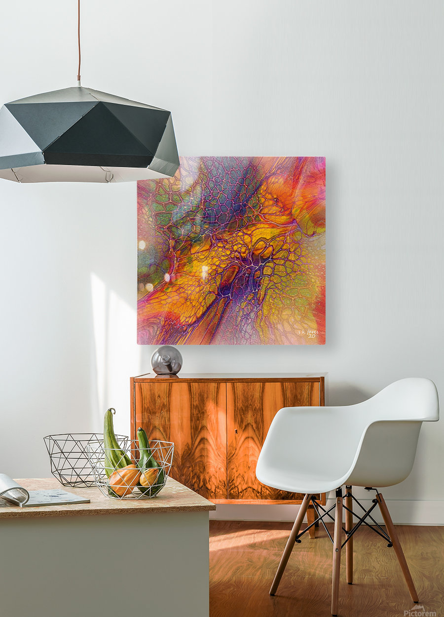artabstract mix10  HD Metal print with Floating Frame on Back