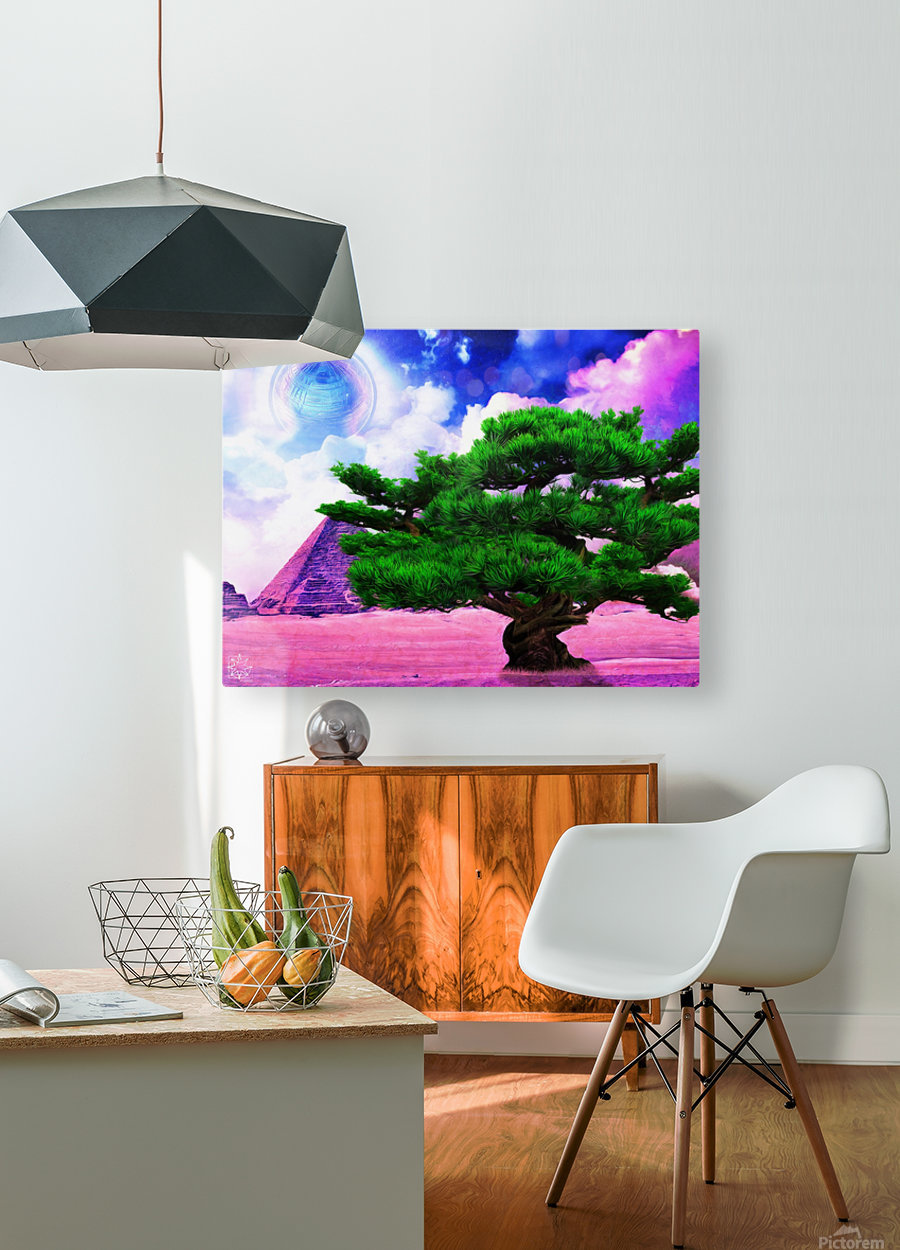The Sublimate Tree  HD Metal print with Floating Frame on Back