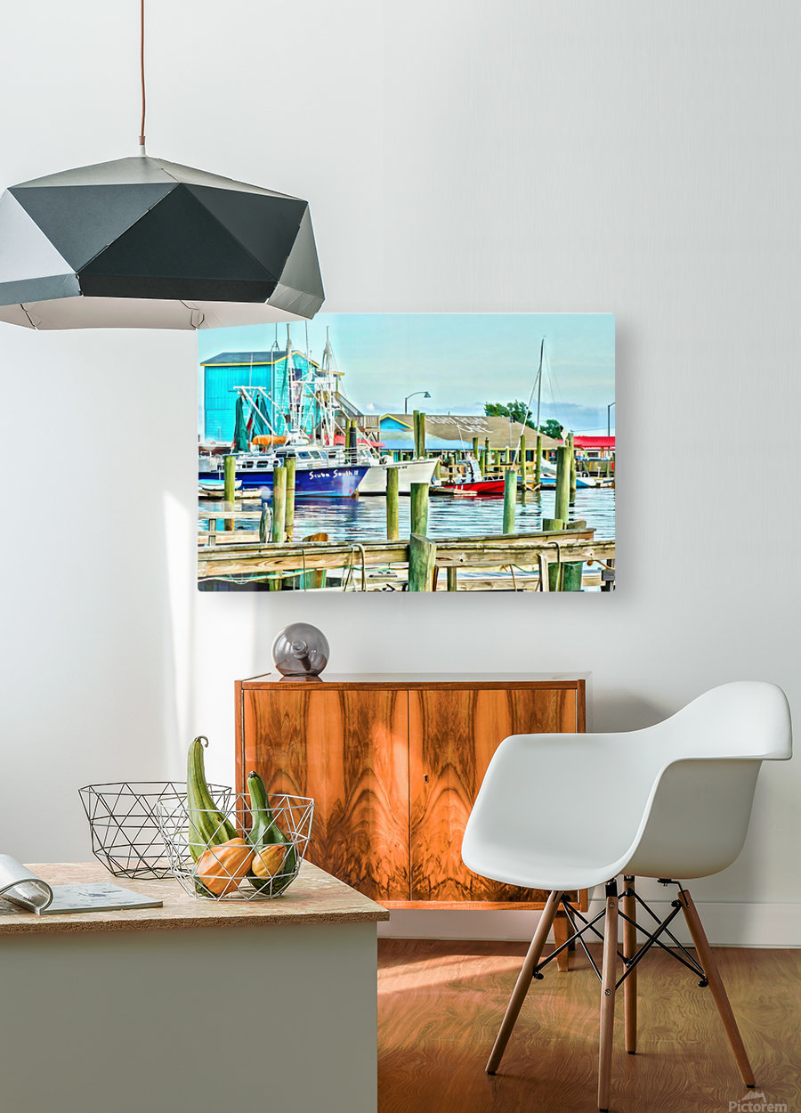 Fishy Fish  Cafe Harbor View  HD Metal print with Floating Frame on Back