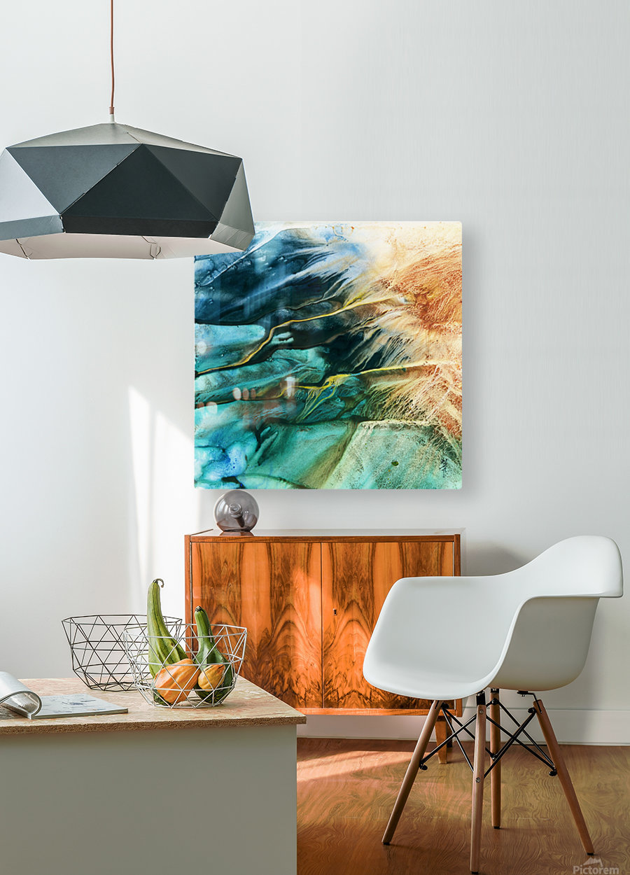 Prismatic Series  HD Metal print with Floating Frame on Back
