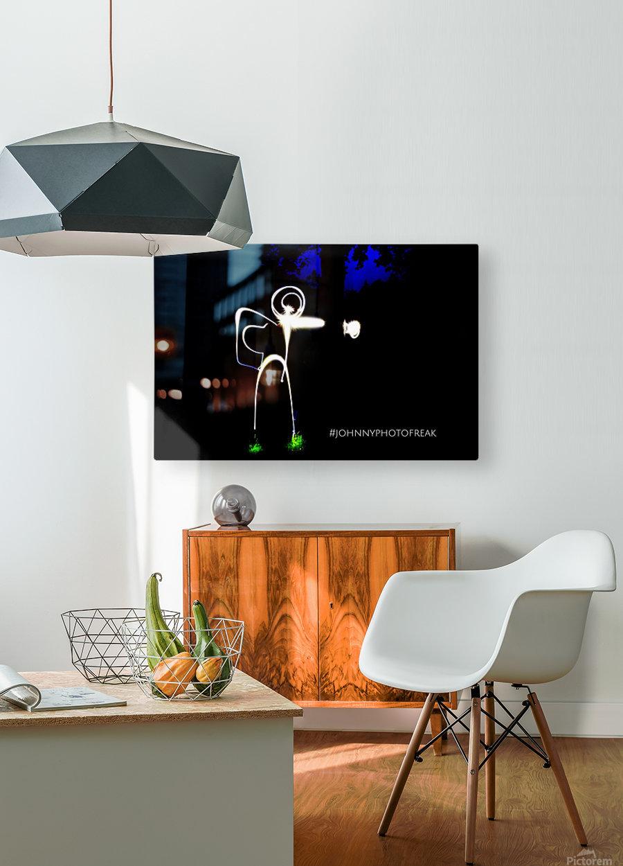 Stickman light comfort  HD Metal print with Floating Frame on Back