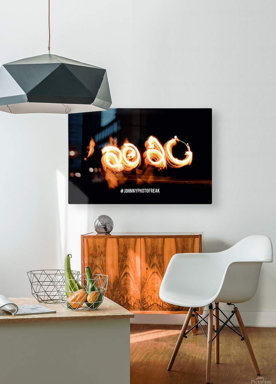 2020 IN FIRE fire painting   HD Metal print with Floating Frame on Back