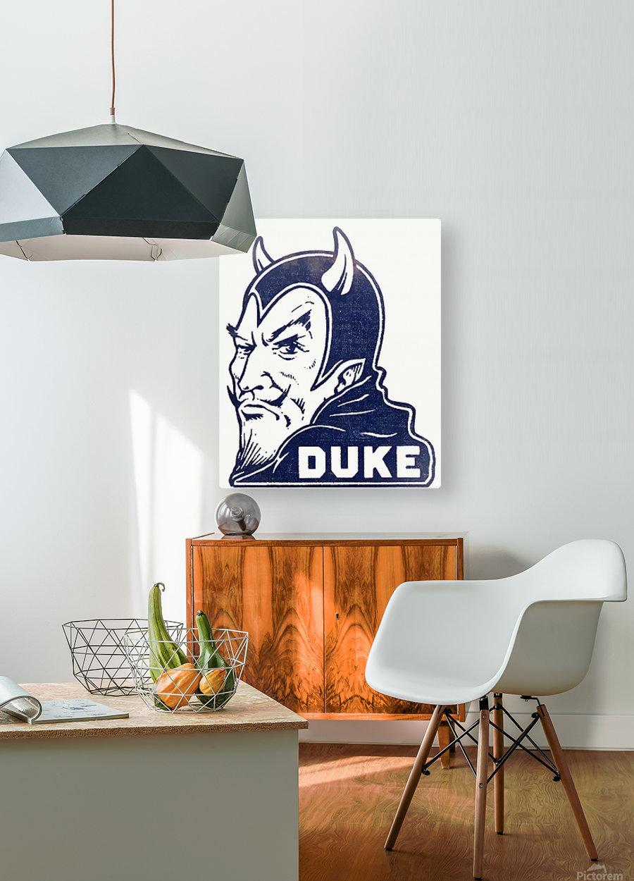 1950s duke university blue devil college art  HD Metal print with Floating Frame on Back