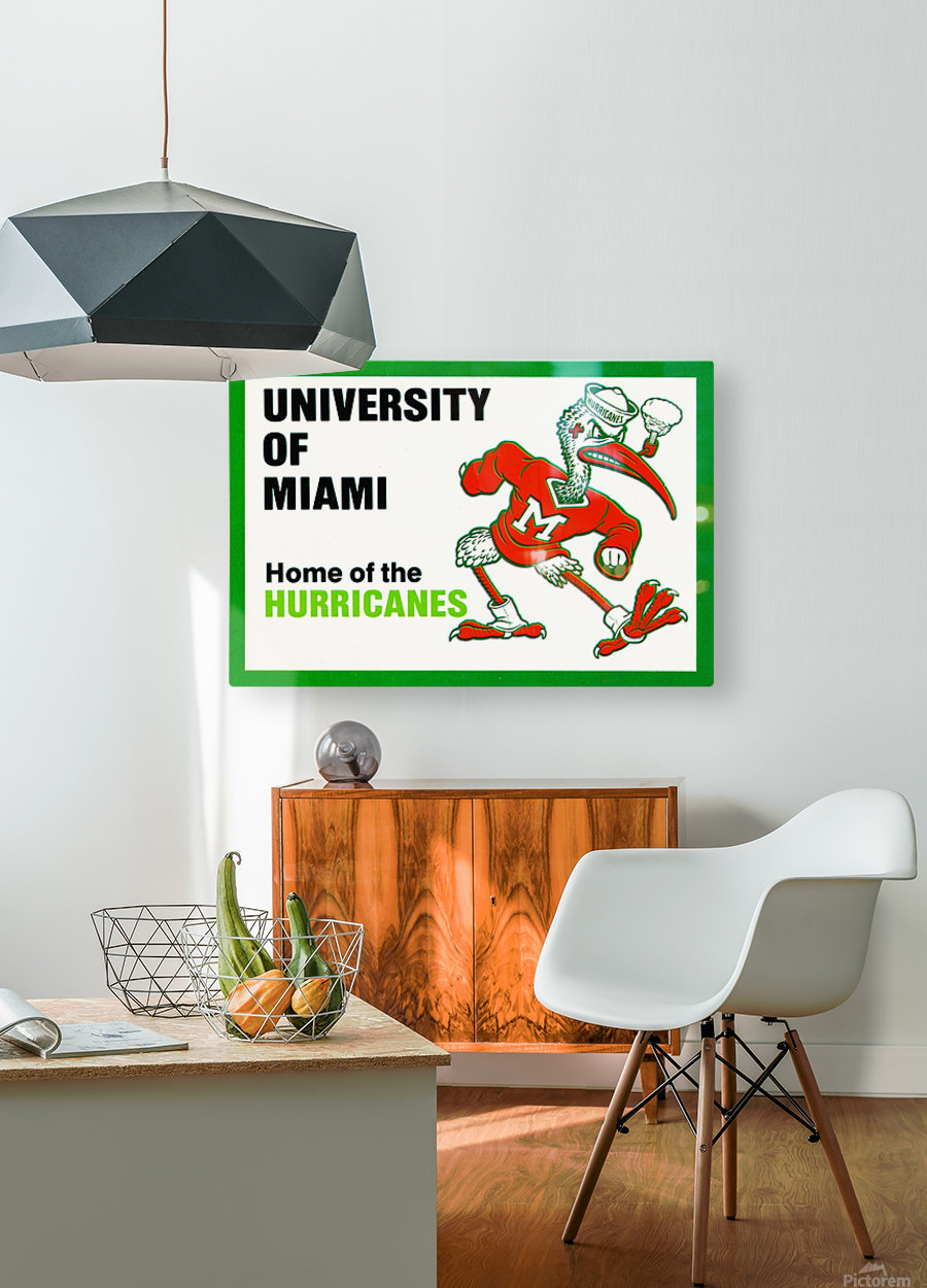university of miami home of the hurricanes  HD Metal print with Floating Frame on Back