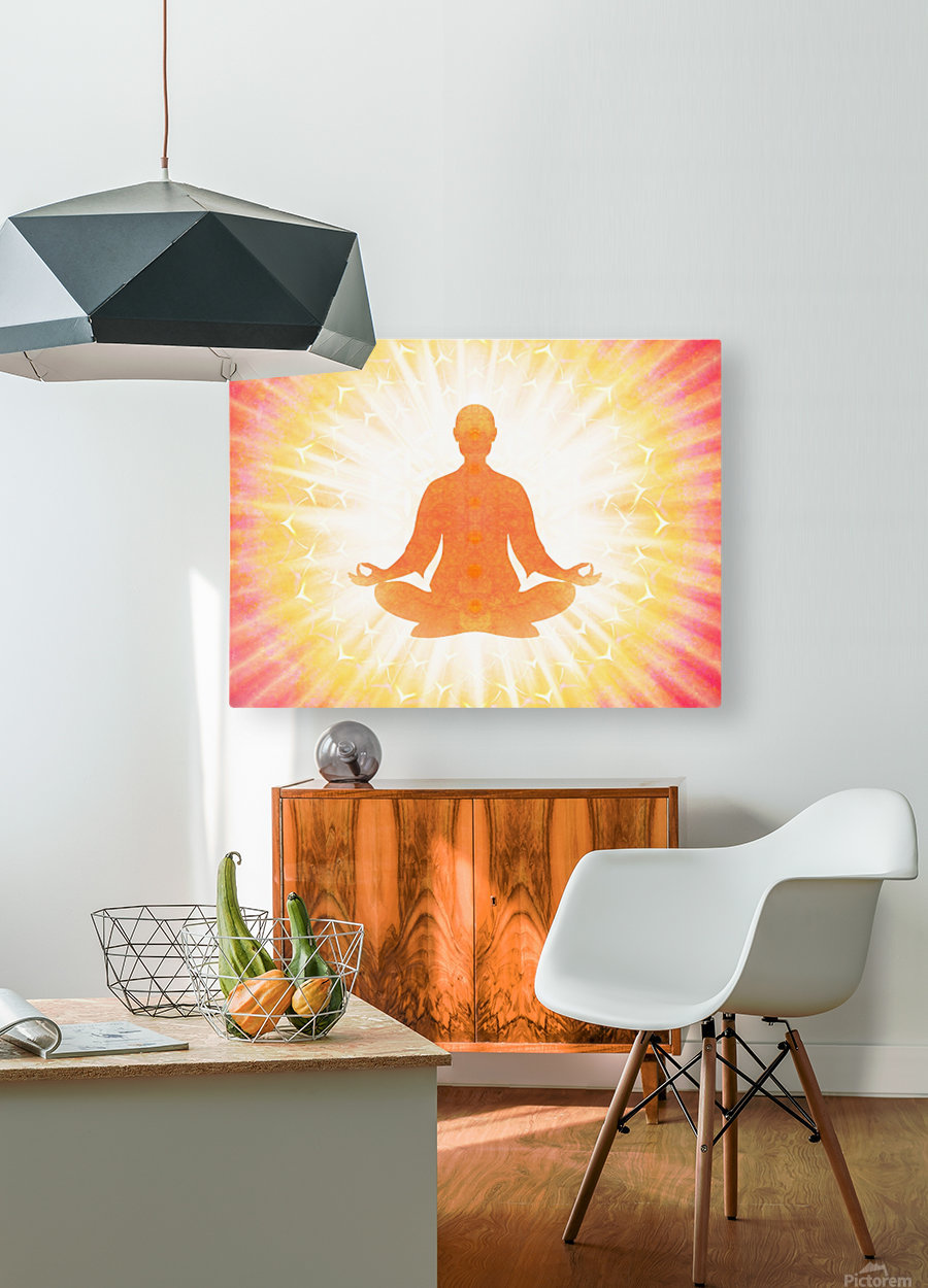 In Meditation - Be The Light  HD Metal print with Floating Frame on Back