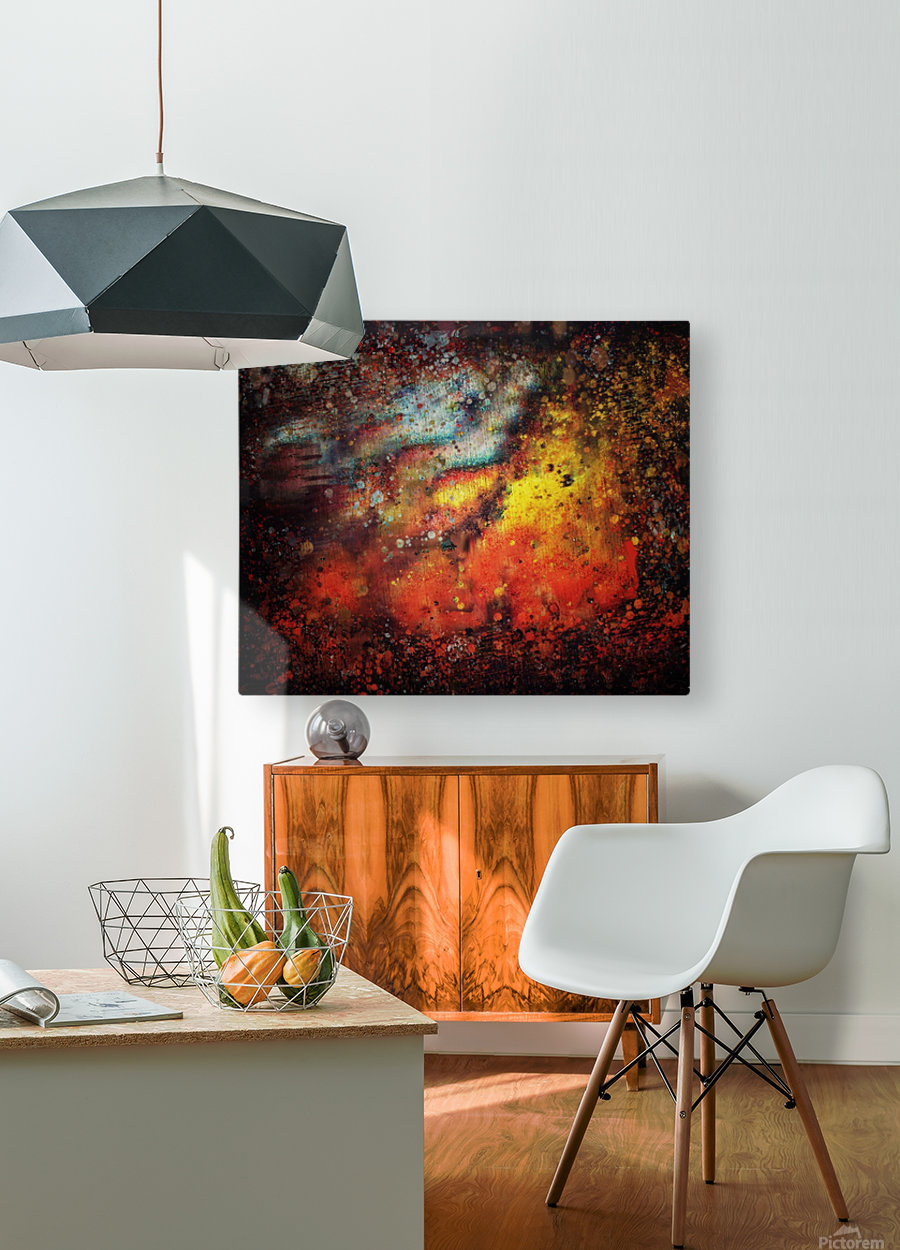 Untitled Abstract   HD Metal print with Floating Frame on Back