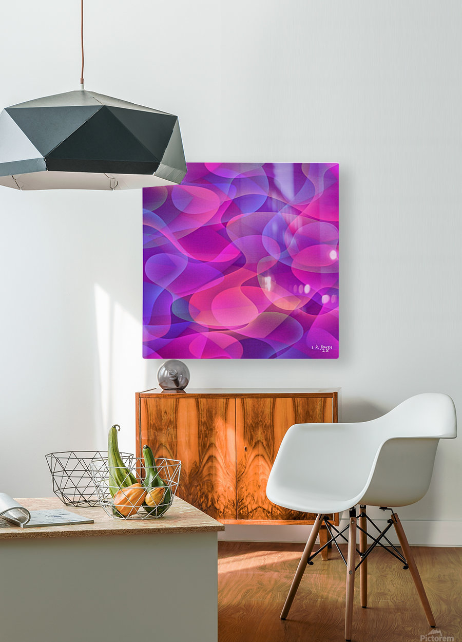 ART A MIX29  HD Metal print with Floating Frame on Back