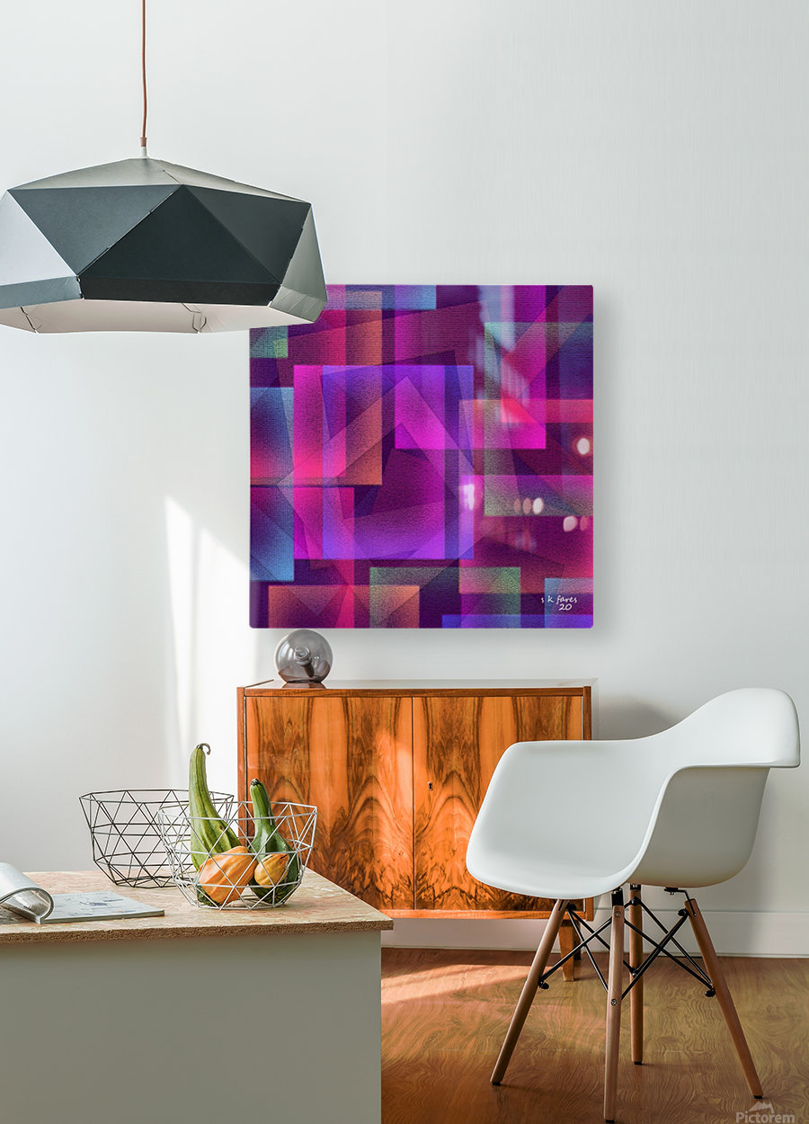 ART A MIX37  HD Metal print with Floating Frame on Back