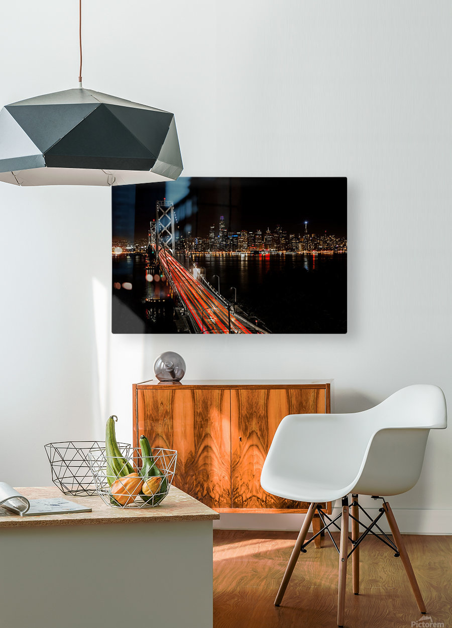 Sinner City  HD Metal print with Floating Frame on Back