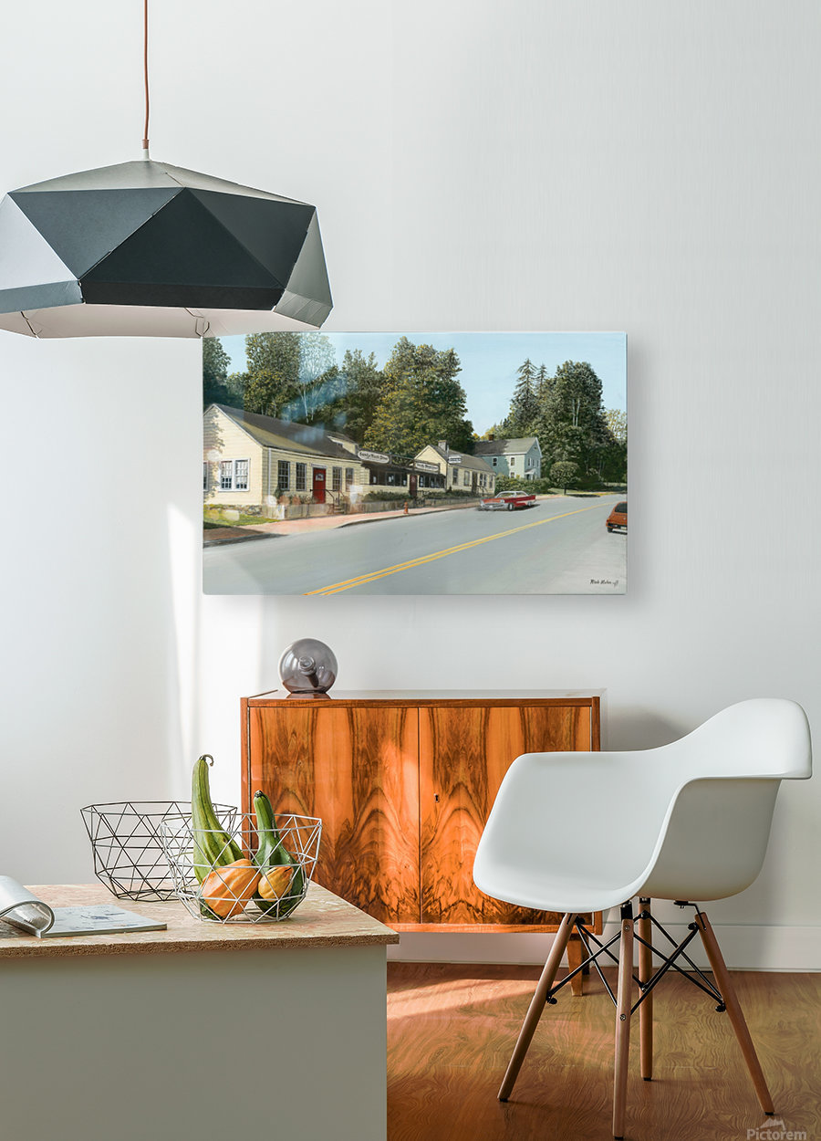 Sandy Hook Diner - Newtown Series 16 X 24   HD Metal print with Floating Frame on Back