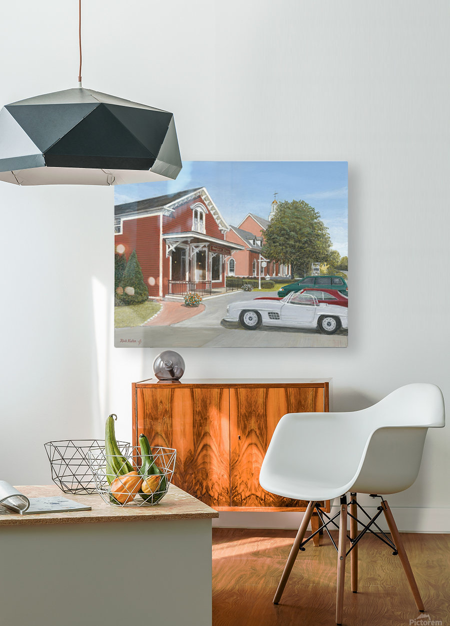 Town Hall and Store - Newtown Series 16X20   HD Metal print with Floating Frame on Back
