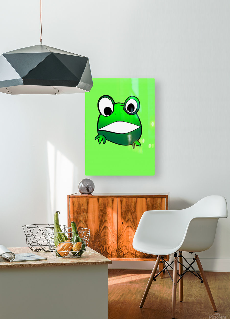 cute little frog  HD Metal print with Floating Frame on Back