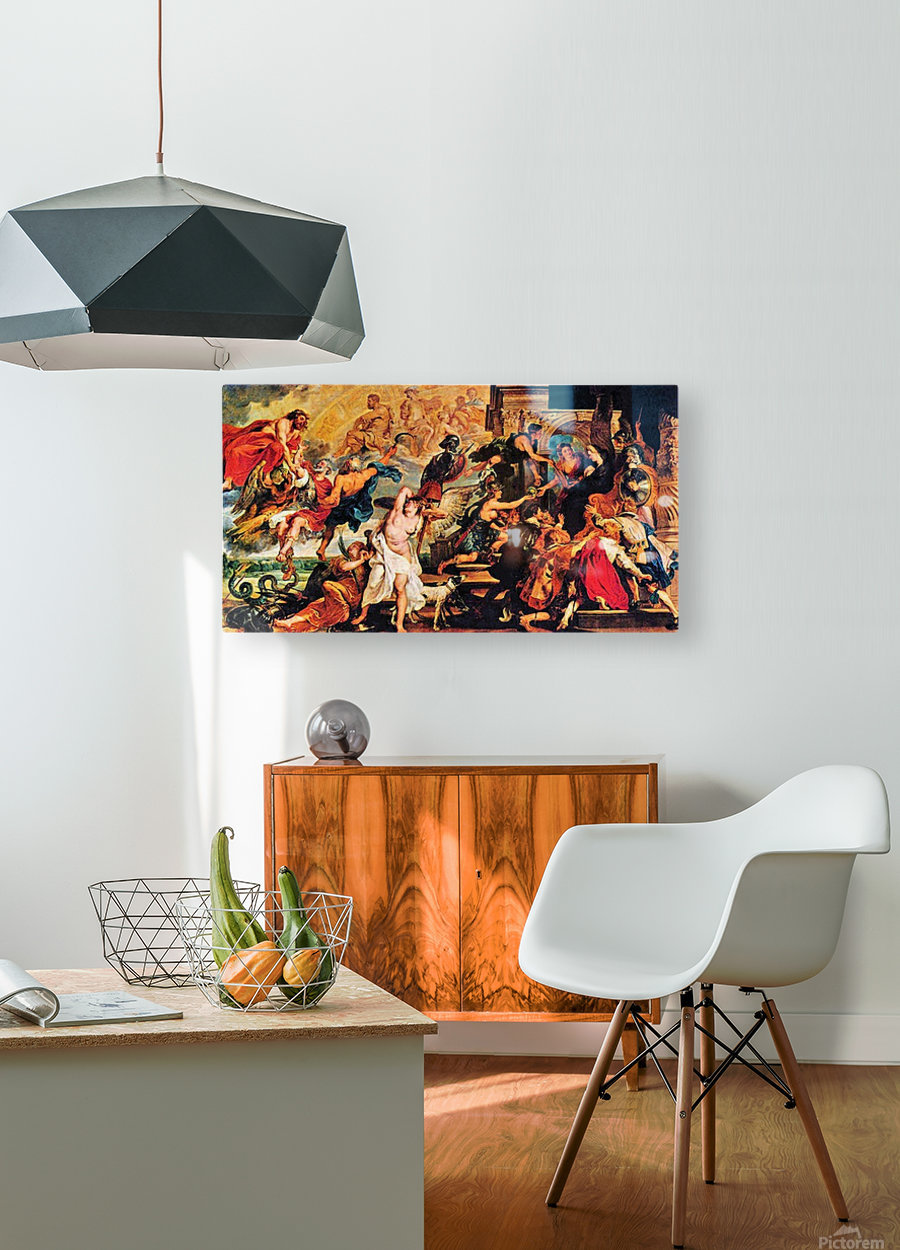 Medici s and the Apotheosis of Henry IV by Rubens  HD Metal print with Floating Frame on Back