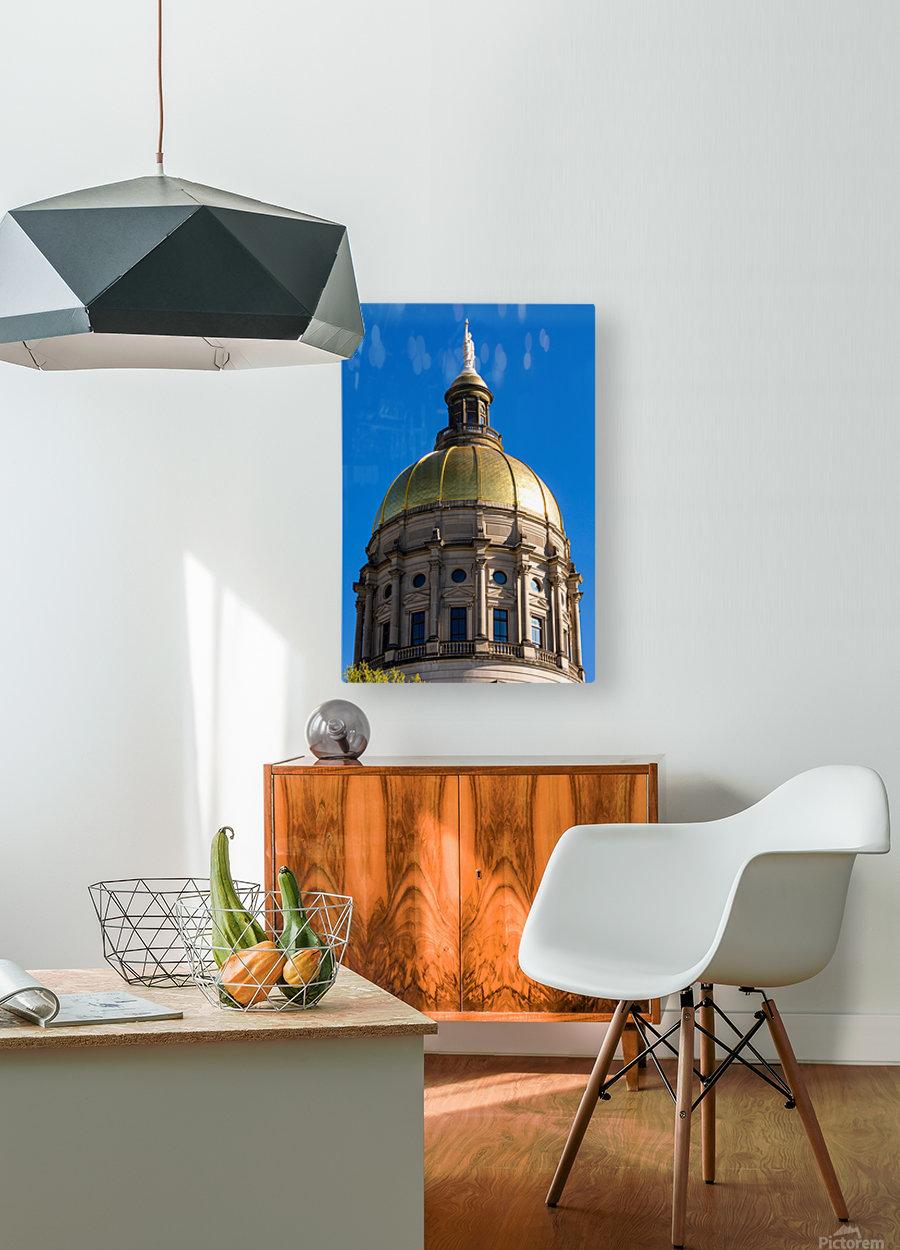 Georgia State Capitol Building   Atlanta GA 7190  HD Metal print with Floating Frame on Back