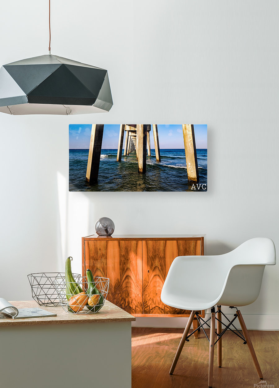 Good Morning Pier  HD Metal print with Floating Frame on Back