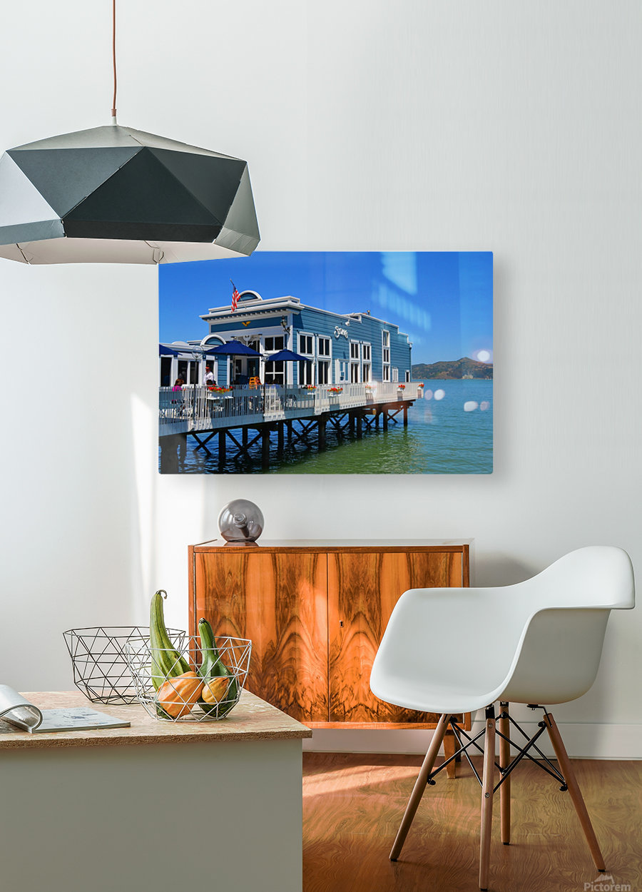 River House  HD Metal print with Floating Frame on Back