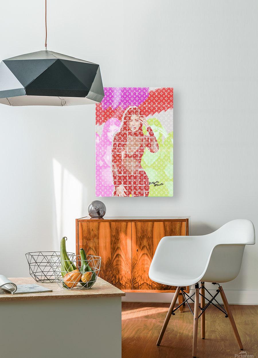 Celebrity K  HD Metal print with Floating Frame on Back