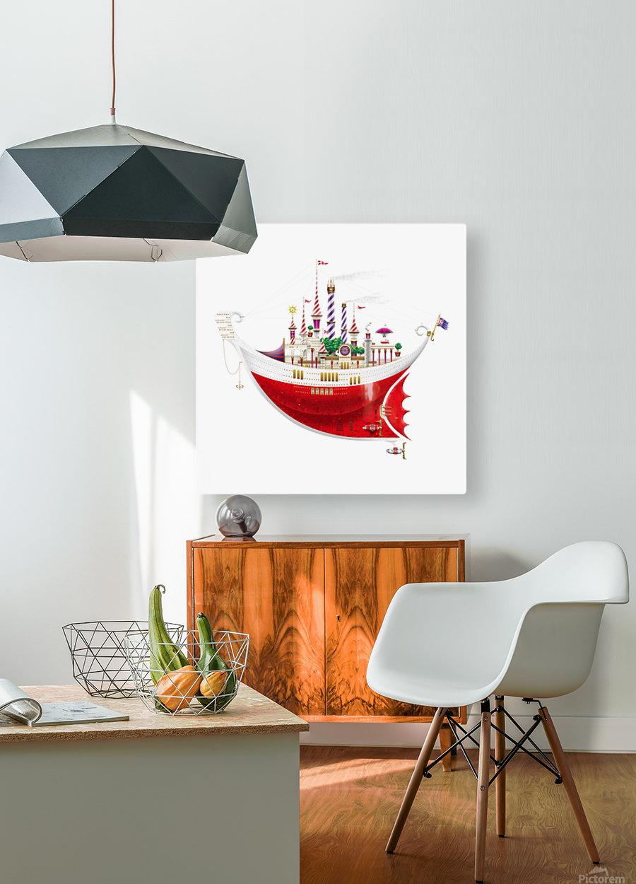 Crocciere Gondollino  HD Metal print with Floating Frame on Back