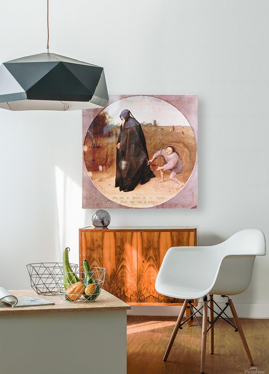 Misanthrope by Pieter Bruegel  HD Metal print with Floating Frame on Back