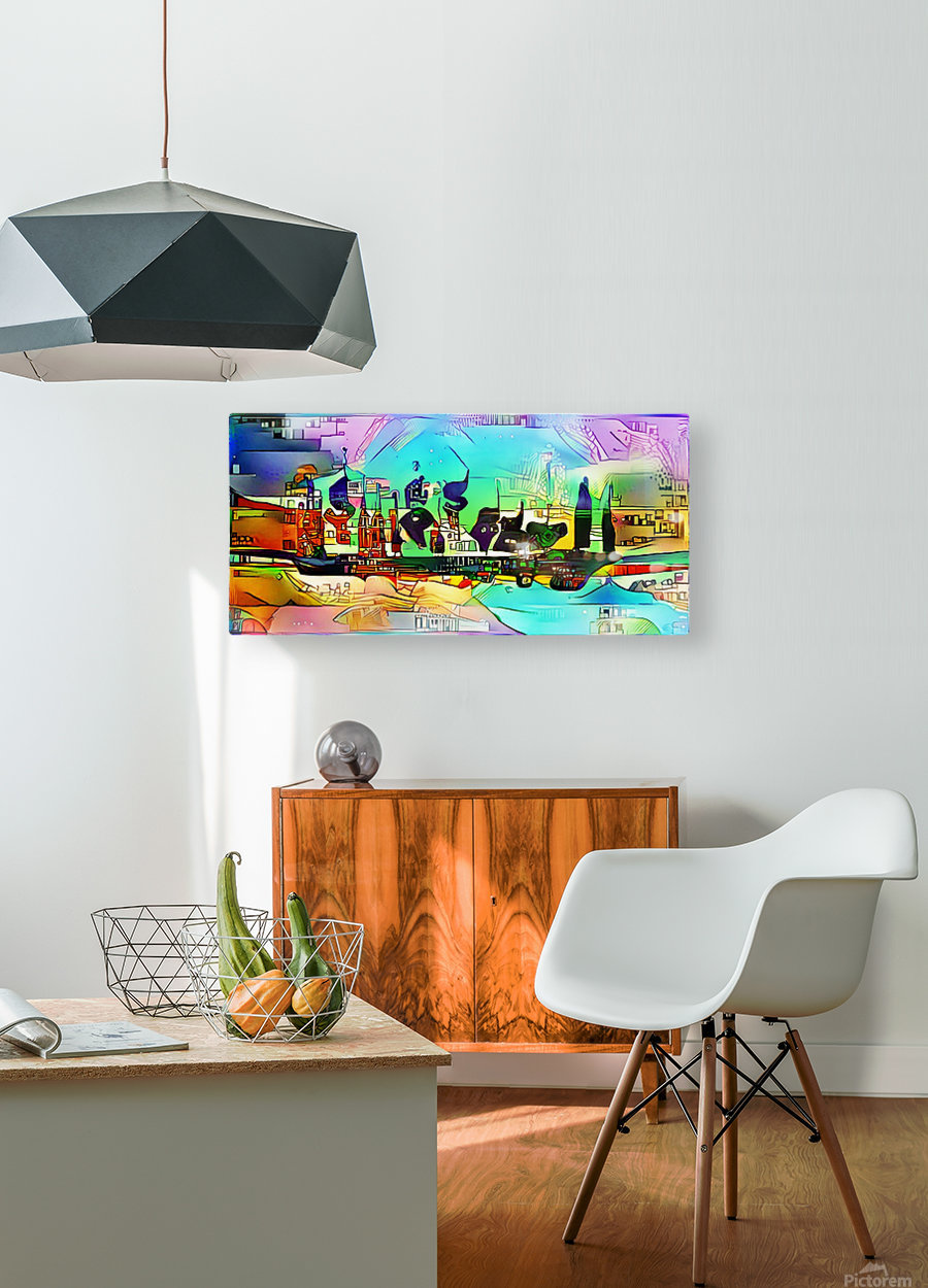 city5 ship  HD Metal print with Floating Frame on Back