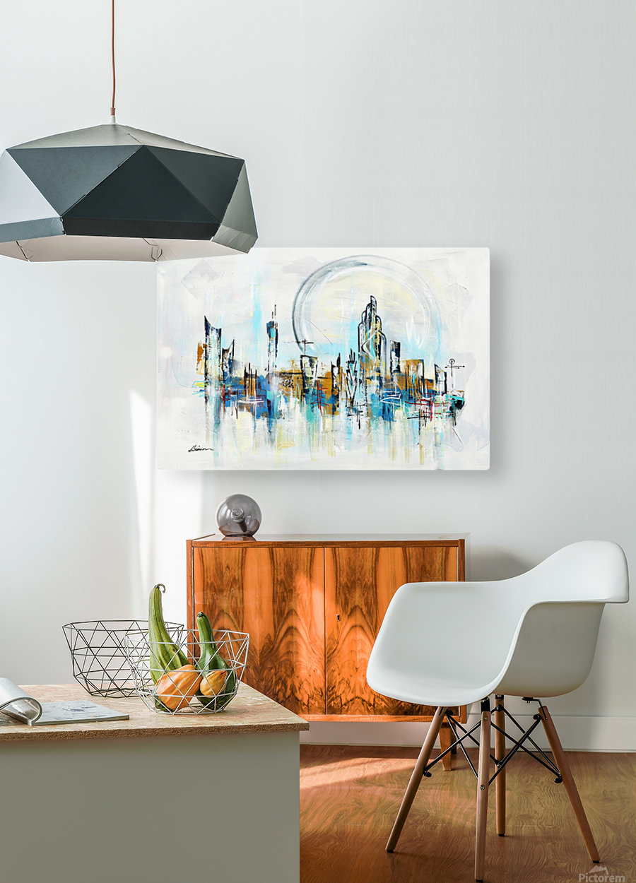 Uptown XXVI  HD Metal print with Floating Frame on Back