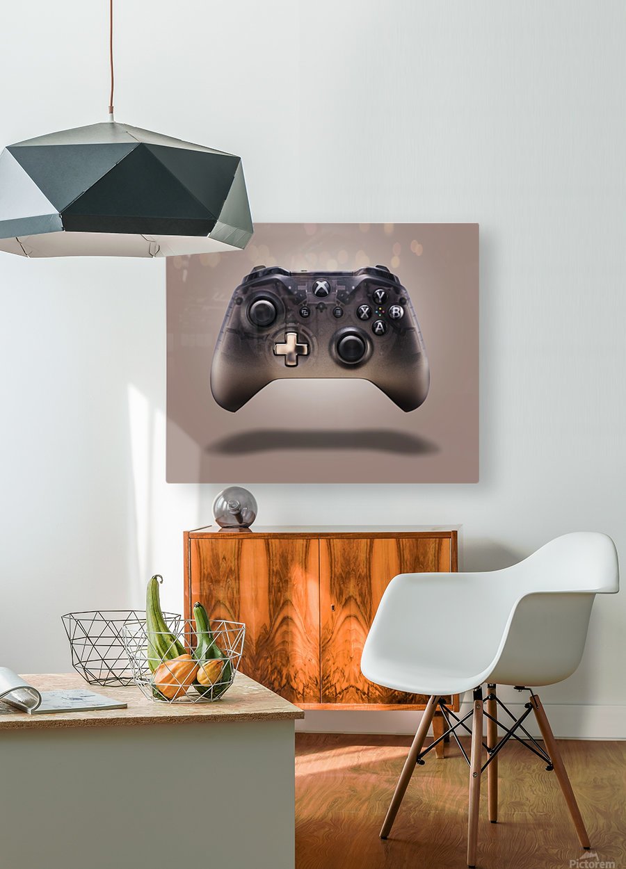 Gaming Controller v2 [extra large]  HD Metal print with Floating Frame on Back