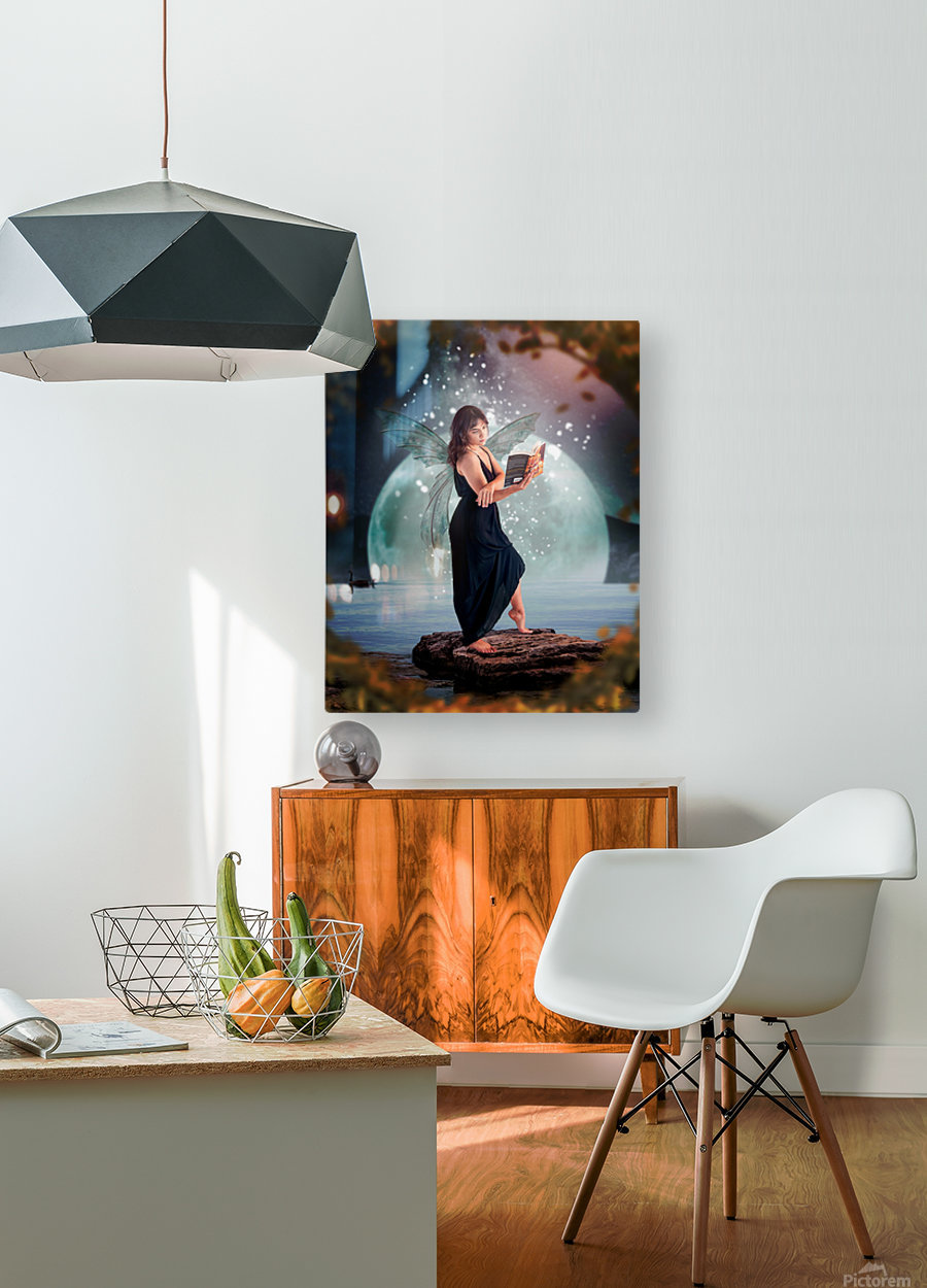 Fairy portrait  HD Metal print with Floating Frame on Back
