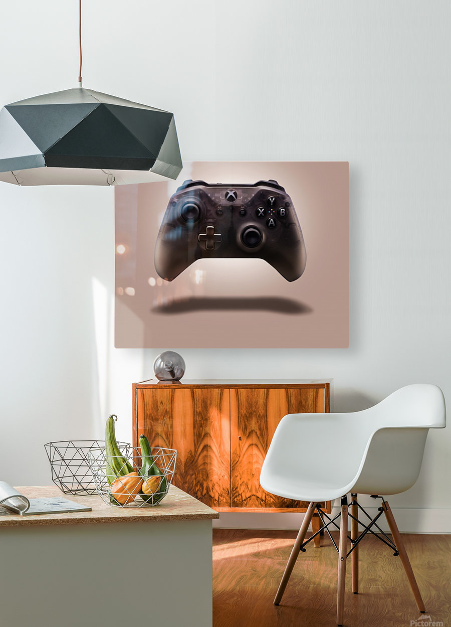 Gaming Controller v1  HD Metal print with Floating Frame on Back