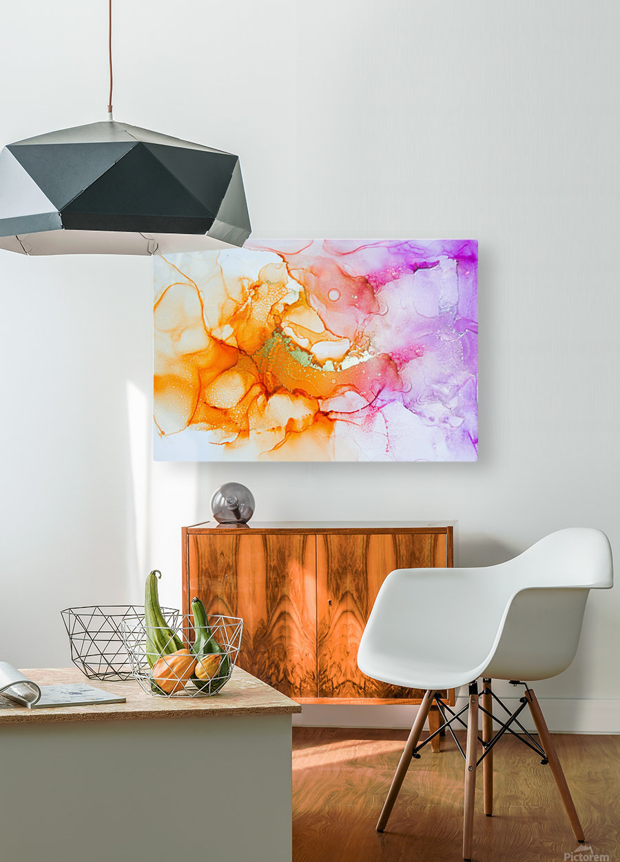open up  HD Metal print with Floating Frame on Back
