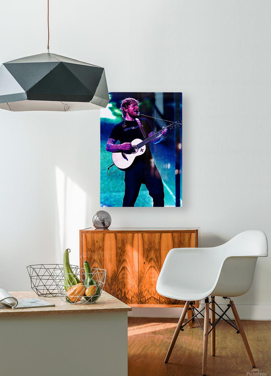 edsheeran  HD Metal print with Floating Frame on Back