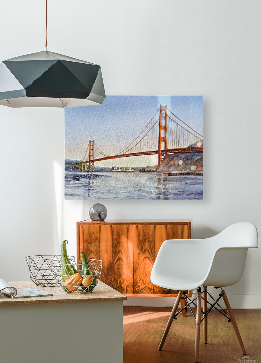 San Francisco California Golden Gate Bridge  HD Metal print with Floating Frame on Back