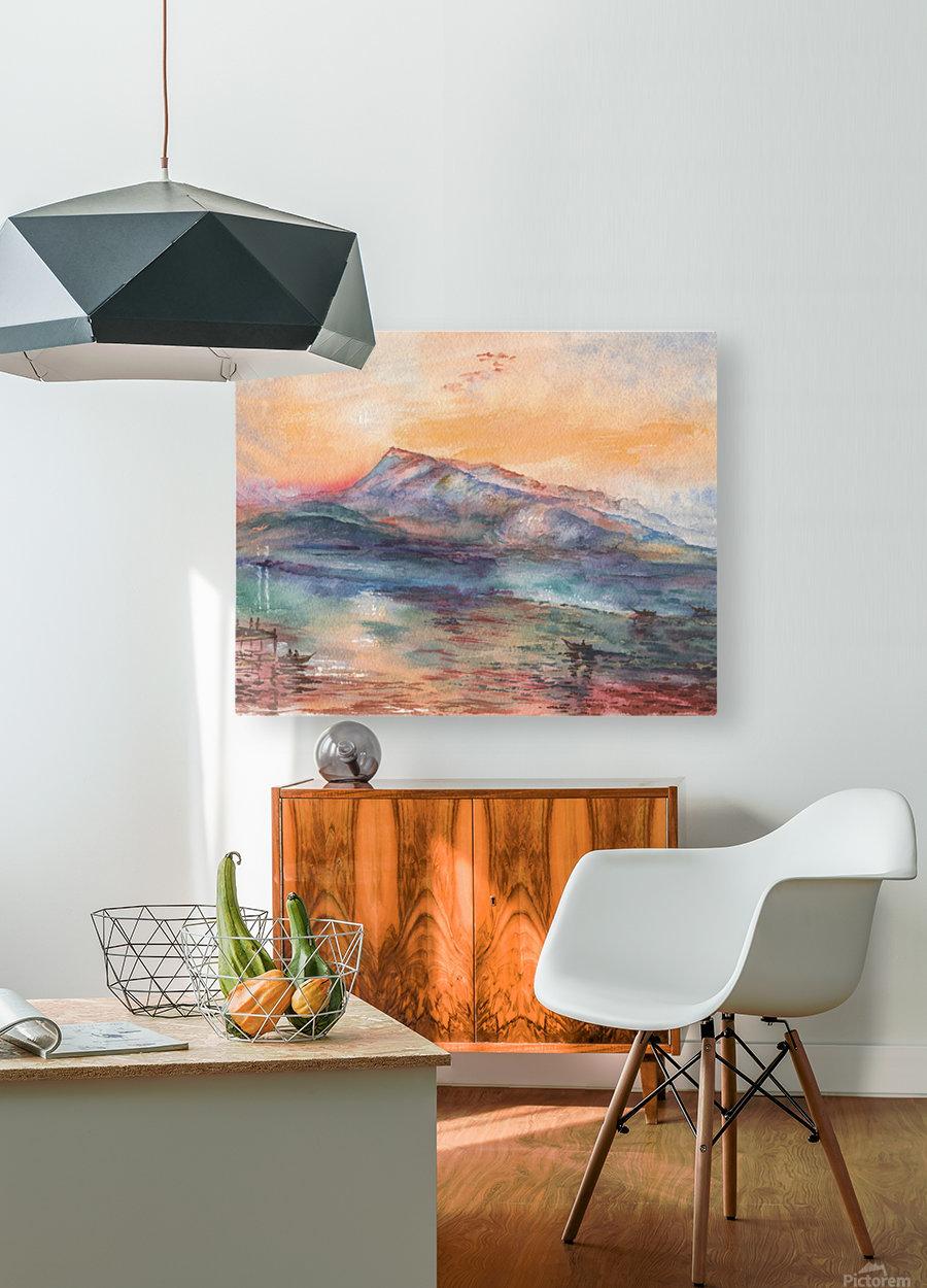 Mount Rigi Switzerland Lake  HD Metal print with Floating Frame on Back