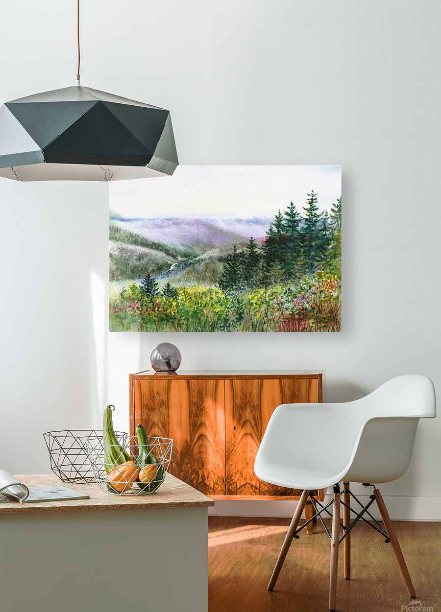 Landscape With Redwood Creek   HD Metal print with Floating Frame on Back