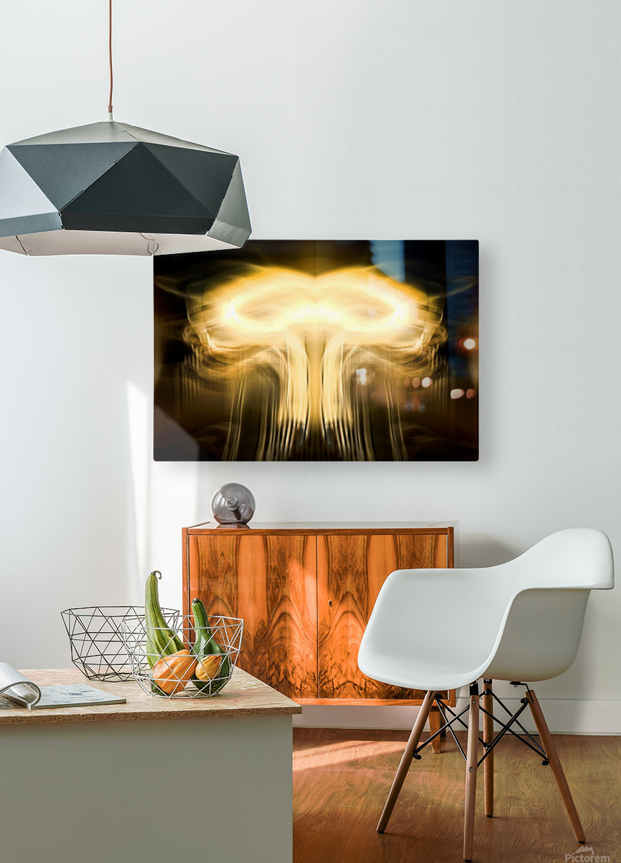 BOOM  HD Metal print with Floating Frame on Back