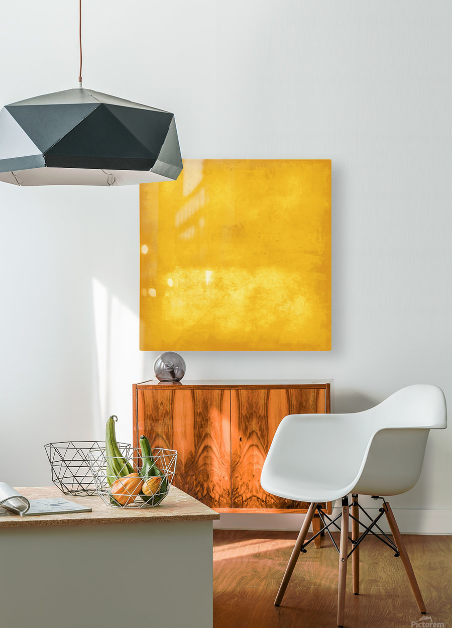 Yellow 44  HD Metal print with Floating Frame on Back