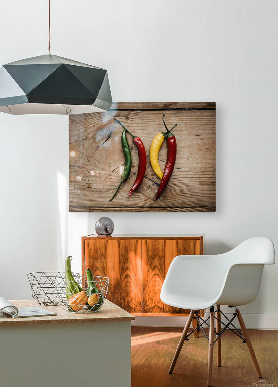 Spice it   HD Metal print with Floating Frame on Back