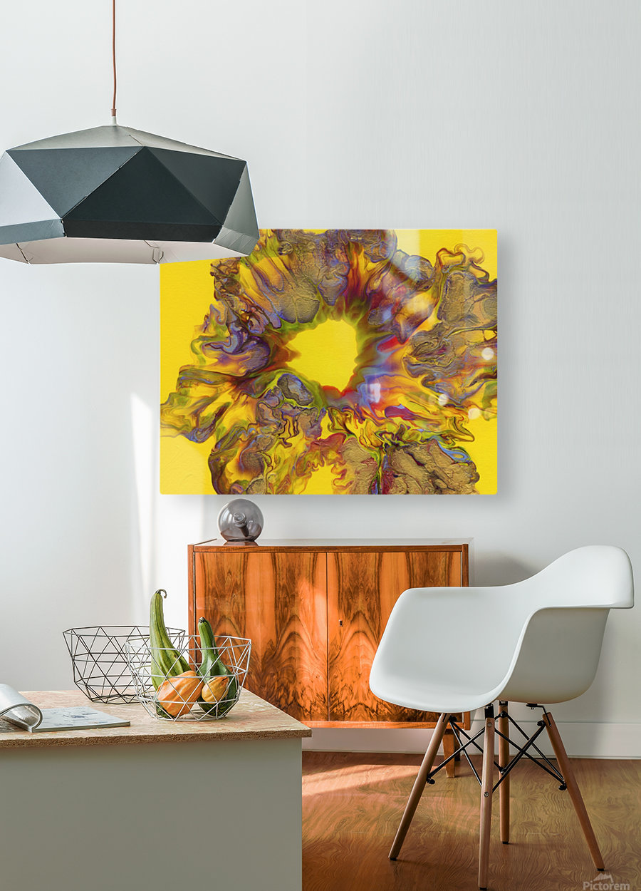Fire Bloom   HD Metal print with Floating Frame on Back
