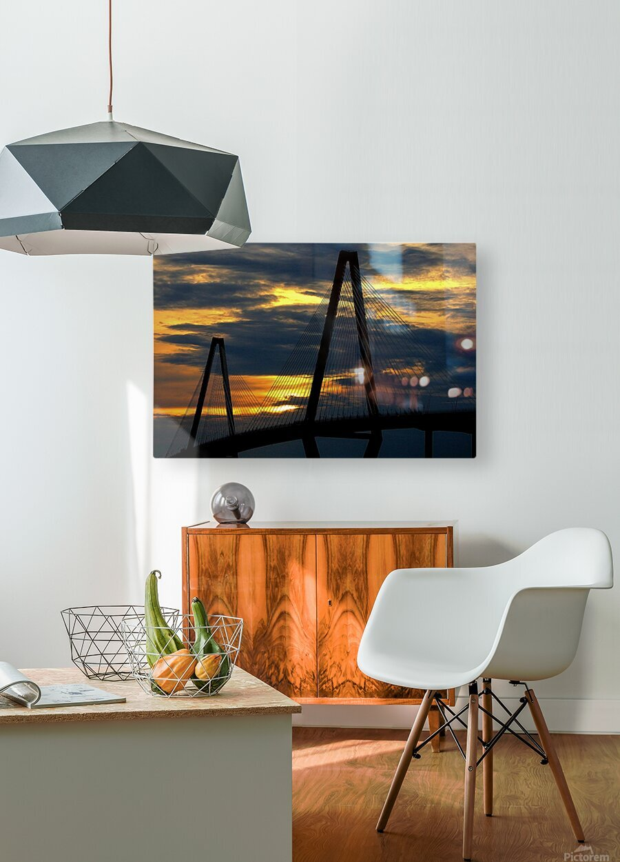 Ravanel Sunset  HD Metal print with Floating Frame on Back