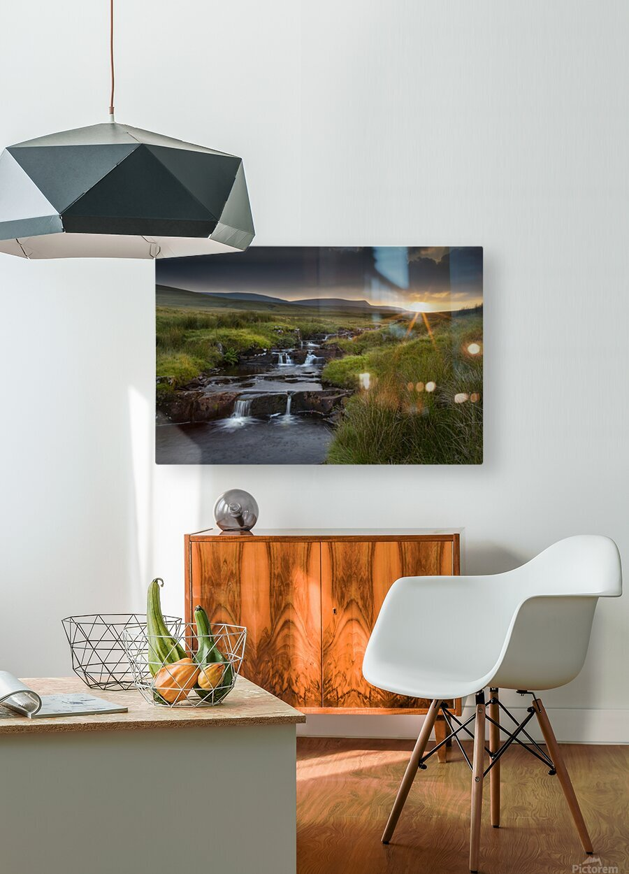River Tawe sunset  HD Metal print with Floating Frame on Back