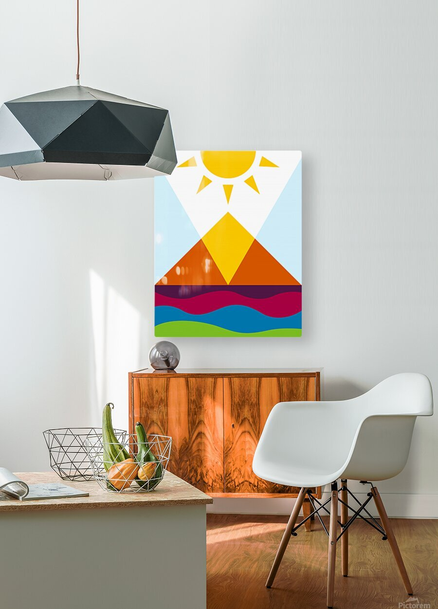 The Pyramid  HD Metal print with Floating Frame on Back