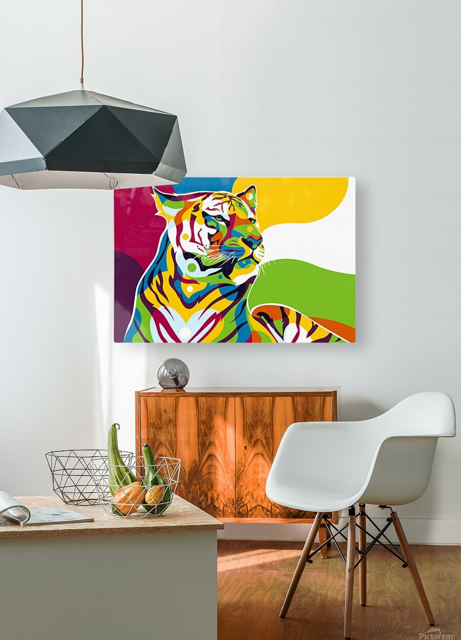 The King Tiger   HD Metal print with Floating Frame on Back