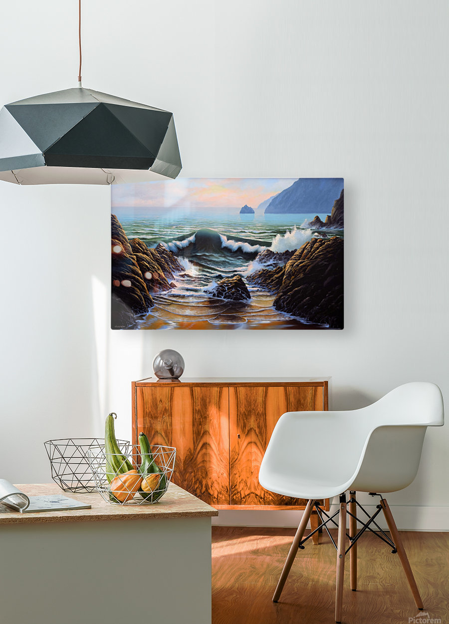 Dancing Tide  HD Metal print with Floating Frame on Back