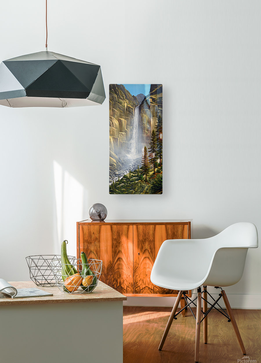 Great Falls  HD Metal print with Floating Frame on Back
