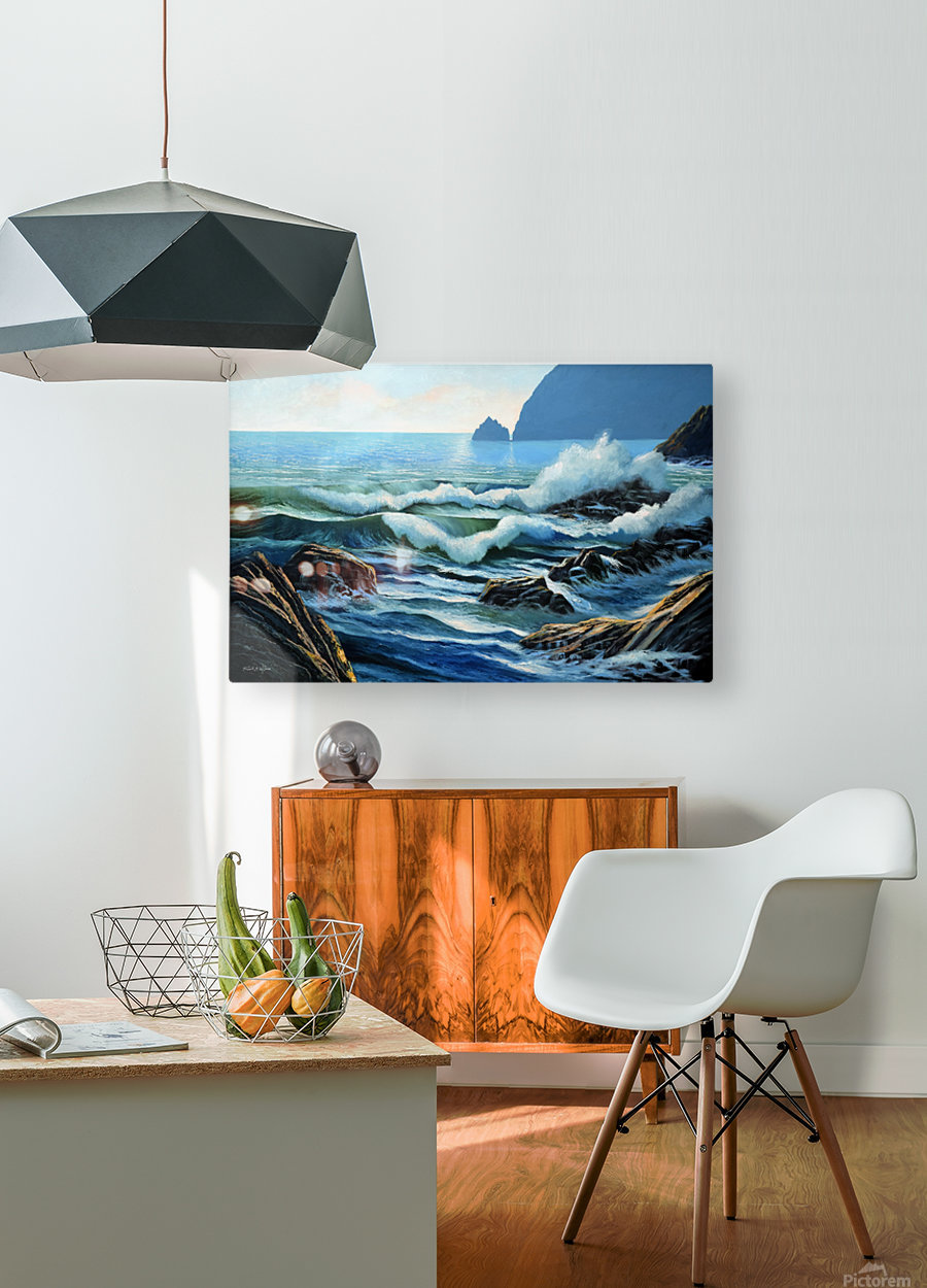 Rolling Breakers  HD Metal print with Floating Frame on Back