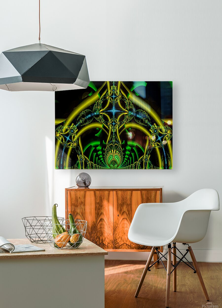 Trifunctional   HD Metal print with Floating Frame on Back