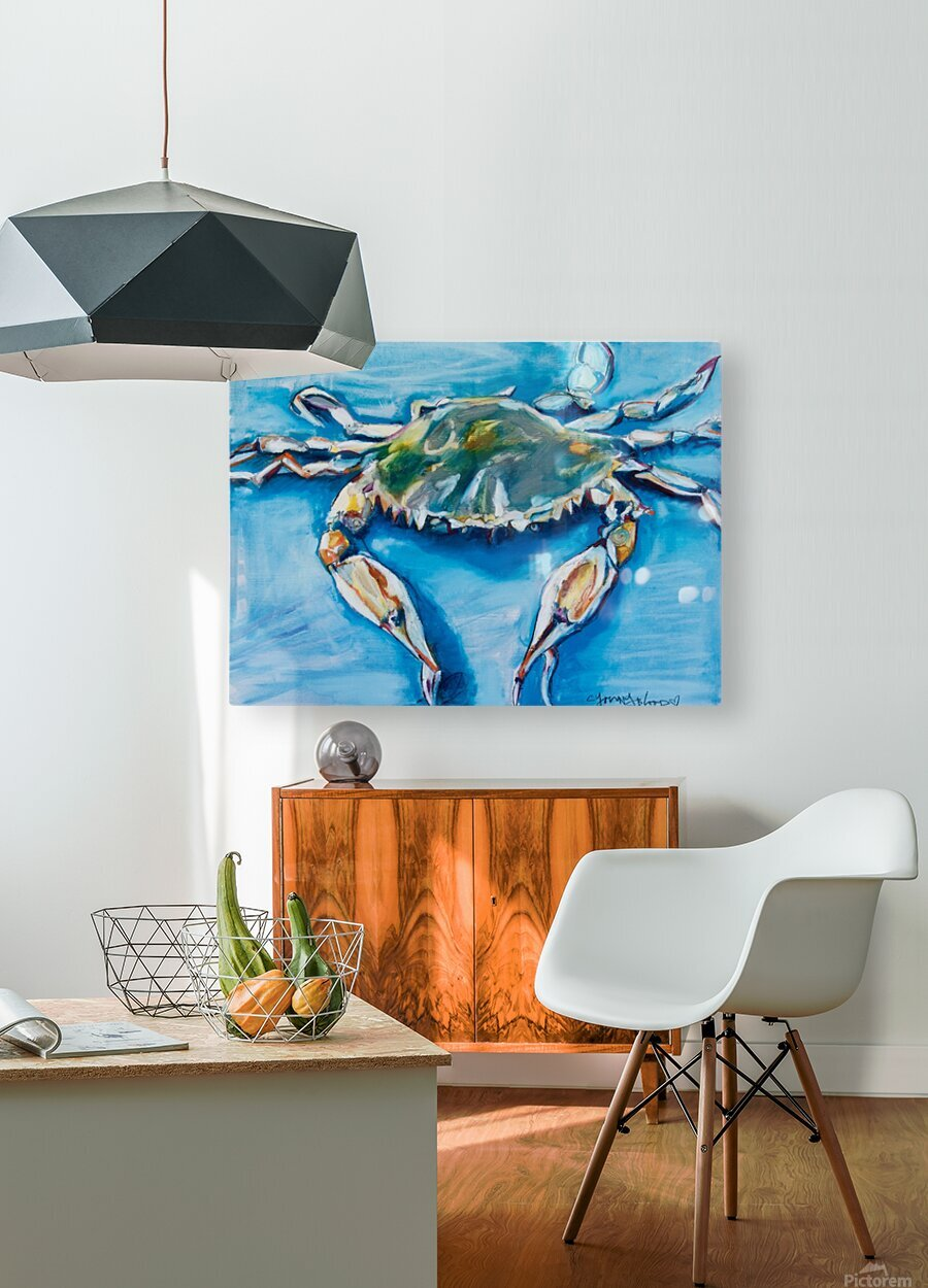 Louisiana He Soft Shell Crab  HD Metal print with Floating Frame on Back