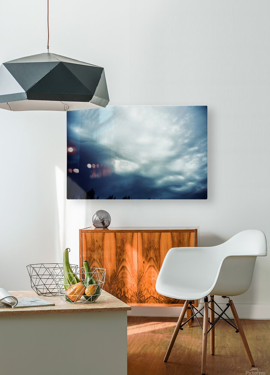 Psychedelic sky  HD Metal print with Floating Frame on Back