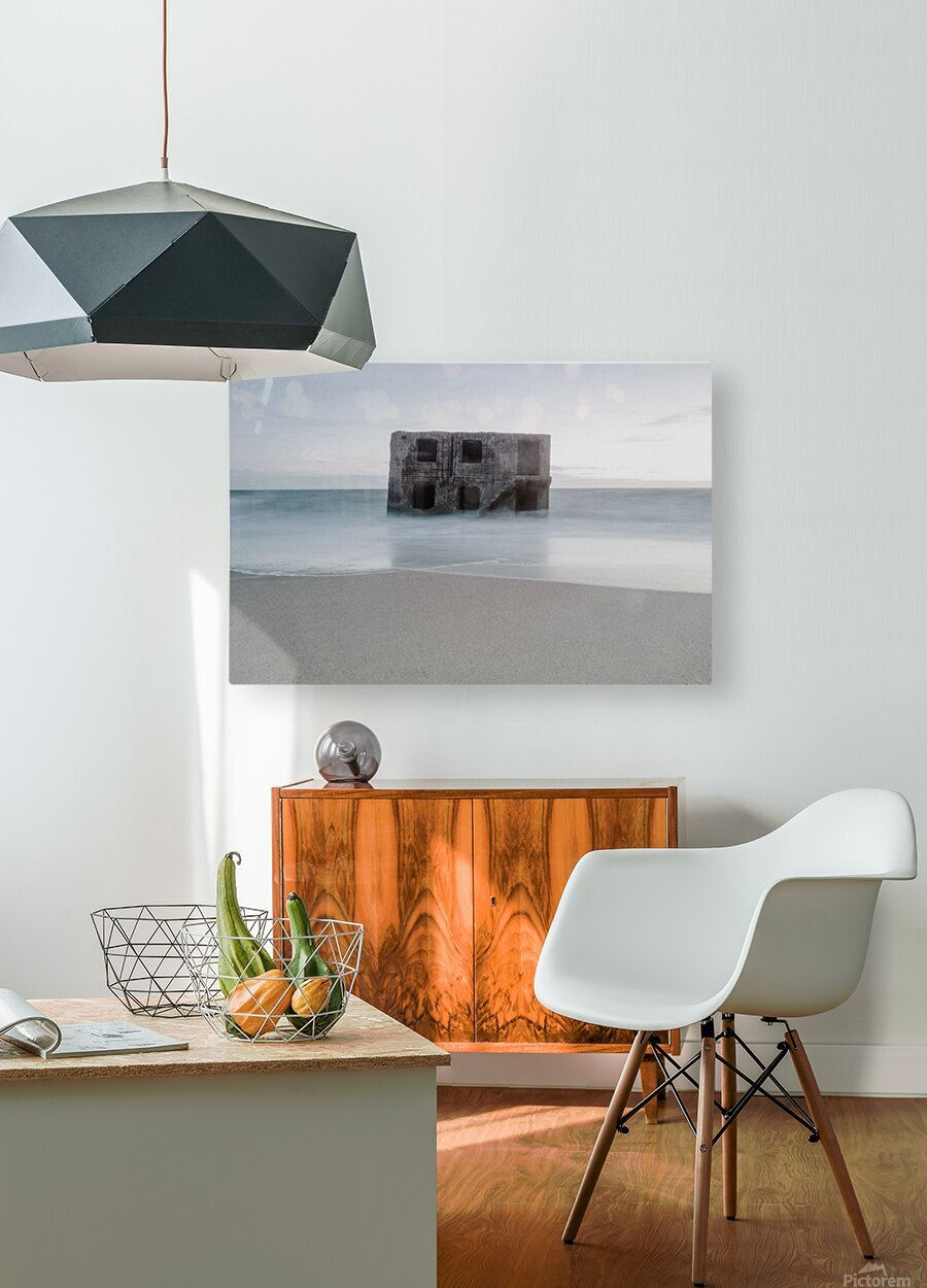 Fort in the sea  HD Metal print with Floating Frame on Back