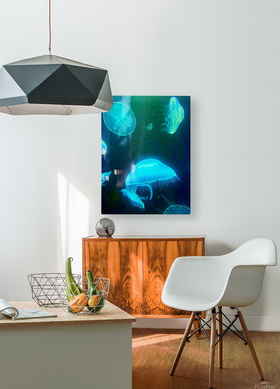 Venture into the Abyss  HD Metal print with Floating Frame on Back